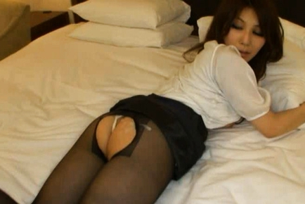 Mihono Tsukimoto Sexy Asian woman spreads her legs