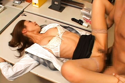Sarasa Hara Lovely Japanese office lady