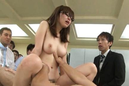 Rika Sugisaki Asian chick is a big titted secretary