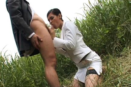 Maria Ozawa Asian secretary is hot in her job