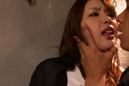 Hot Asian model is in an office gangbang
