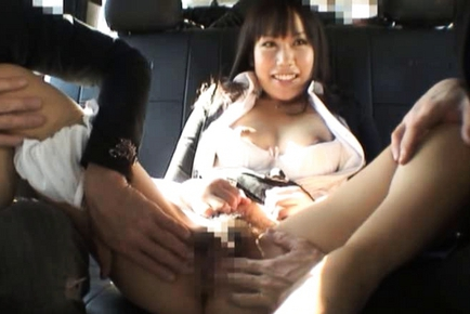 Kasumi Uemura Japanese office lady is a kinky chick who enjoys car sex!