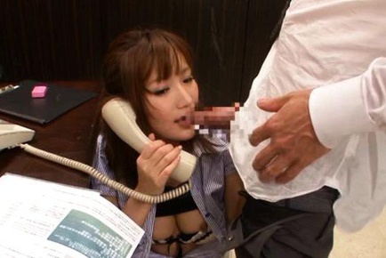 Hot milf in office suit Kokone Mzutani cock sucking