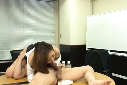 Teen Office Worker Gets Fucked On The Conference Room Table