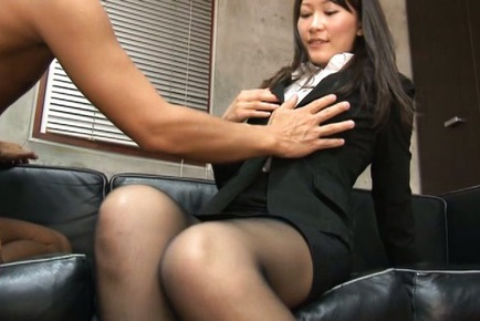 Kozue Hirayama is horny and eager for some hard fuck