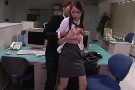 Pink lingerie of hot MILF Julia is getting exposed