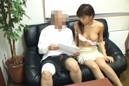 Hot Japanese office workers in hot sex action