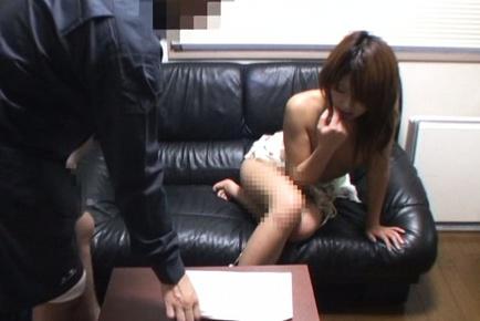 Lovely Japanese office girl has sex on her break
