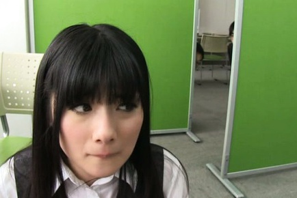 Chika Hirako hot Japanese office girl gives head