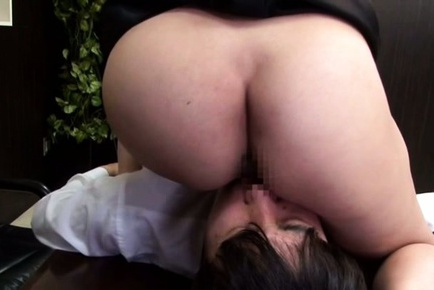 Hot mature gets horny at work and dominates