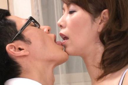 Naughty office babes Chisato Shohda and friend ride cocks