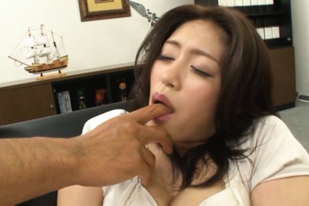 Insatiable office lady Kaori enjoys kinky office sex