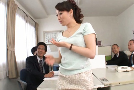 Kinky Japanese office lady Yuu Kawkami enjoys hot office sex