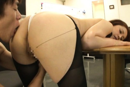 Hot office lady Yurie Matsushima enjoying a great fuck