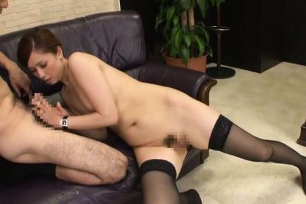 Mature Yurie Matsushima enjoying a big tasty dick