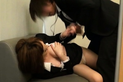 Appealing milf gets nasty at work with her boss
