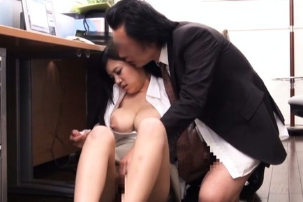 Lustful Asian office hottie enjoys genuine banging getting cum on tits