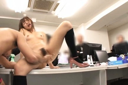 Hardcore fun as kinky office lady banged