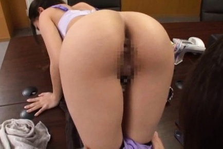 Astonishing office lady with bubble ass enjoys hardcore rear fuck
