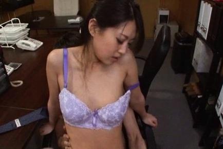 Astonishing office lady with bubble ass enjoys hardcore rear fuck