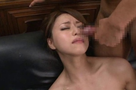 Naughty office lady gets into nasty threesome